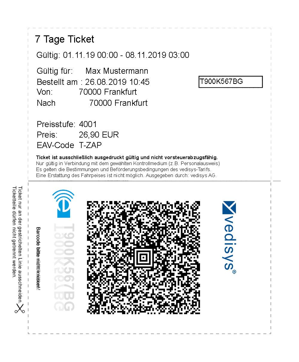 AMIS®7ticket2print - Modul zur Produktion von Tickets zum selbstausdrucken für den Endkunden.